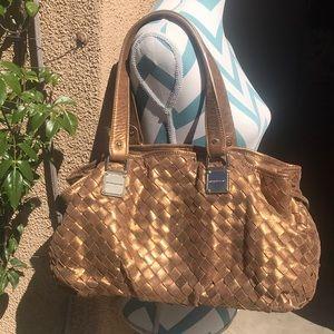 Micheal Kors Gold Metallic Shoulder Bag